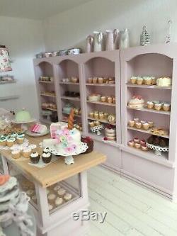 1/12th Miniature Dolls House Handmade Cake Shop Cupcake Parlour OOAK