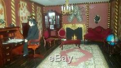 16 room hand made dolls house massive size one of a kind furniture and dolls