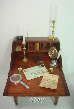 1982 Roger Gutheil Dollhouse Desk 1999 Gail Steffey Gutheil Chair + 14 pcs added