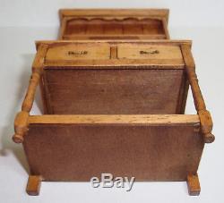 1985 Jane Newman Hutch Cupboard 22 pieces of Jane Graber Stoneware 112 Scale