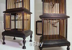 1988 Rare Judy Beals 4 Tier Birdcage & 4 birds by Barbara Ann Meyer 5 Finial Top