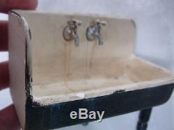 1991 Signed Betty Blankenfeld Dollhouse Miniature 1 Legged Corner Kitchen Sink