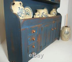 2013 Barbara Vajnar Dollhouse Miniature Dry Sink + 22 pcs Jane Graber Stoneware