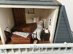 34 Large Continental Dolls House Fully furnished Working Electrics
