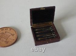 59. Craftsman made St Leger ladies vanity box, amazing miniature