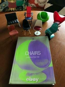 8 SET Design Interior Collection miniature chairs 1/12 + Chairs Book Tashen