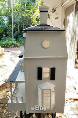 AMAZING VINTAGE SOLID WOOD DOUBLE SIDED DOLL HOUSE 24x37x40 H