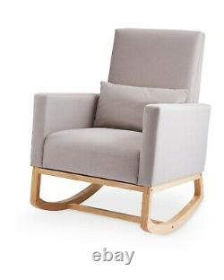 Accent Stylish Grey Rocking Chair Nursery Chair With Cushion