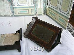 Ancienne jardinière, armoire, lit Rock & Graner pour mignonnette 1860/1880