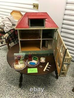 Antique 1920s Dollhouse Thought to be Moritz Gottschalk