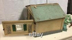 Antique 1920s SCHOENHUT Bungalow Doll House One Room + 2 room Attic Porch