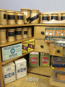 Antique C19th German Christian Hacker Dollhouse Grocery Store Shop Room Box
