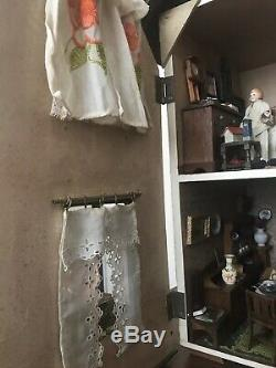 Antique Dolls House And Contents