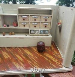Antique GERMAN Dollhouse Room Box General STORE bakery Apothecary Shop
