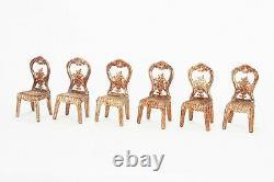 Antique German Gilded Soft Metal Doll House Furniture ca1910