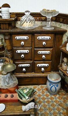 Antique German Grocery Store Shop Dollhouse Room Beauty