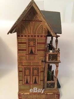 Antique German Moritz Gottschalk Blue Roof Victorian Doll House ca1890