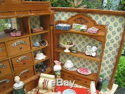 Antique German Wooden Grocery Store By Moritz Gottschalk Circa 1910