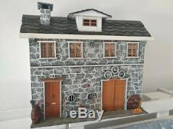 Antique Handmade Wood Farm house Doll House Vintage Collection Unique Handcraft