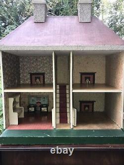 Antique Lines Bros Dolls House And Contents Circa 1919