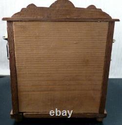 Antique Schneegas German Golden Oak UPRIGHT PIANO 112 Dollhouse Miniature