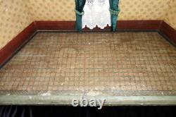 Antique c. 1880 Christian Hacker 112 GERMAN ROOM BOX Dining or Parlor Dollhouse