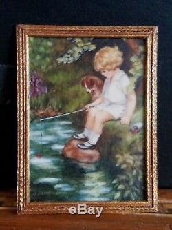 Artisan Miniature Painting Melissa Wolcott Bessie Pease Gutmann Dollhouse 112