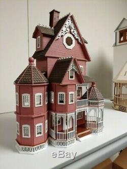 Ashley B milled siding Gothic Victorian Quarter Scale dollhouse (148)