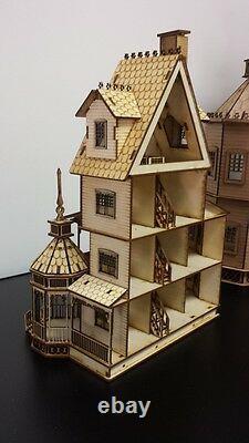 Ashley Gothic Victorian Dollhouse Quarter Inch/ 148 scale Kit