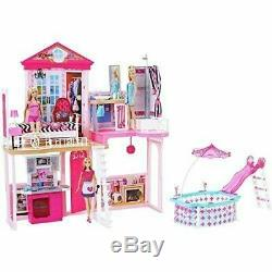 BNIB Barbie Home Set House 3 Dolls with Furniture and Pool COLLECTION ONLY