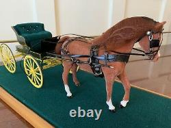 BREYER MINIATURE COLLECTION RIEGSECKER 112 scale horse and carriage Rare
