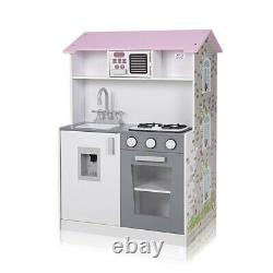 Baby Vivo 2in1 Wooden Kitchen Doll House Kids Pretend Role Play Toy Miniature
