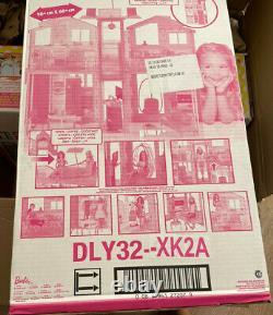 Barbie Doll House (Mattel DLY32) Estate 3 Storey Town House, New some box damage