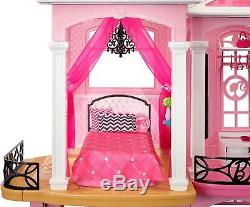Barbie Dream House 3 Story With Elevator Furniture 70+ Accessories Doll House