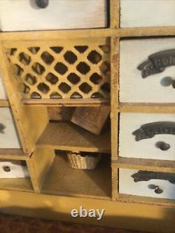Beautiful ANTIQUE GOTTSCHALK Food Market SHOP wood DOLLHOUSE ROOM BOX 1/12