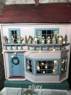 Beautiful Antique G & J Lines Dolls House No. 60 c1915 vgc