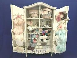 Beautiful Dollhouse Miniature Artist Filled Armoire By Bespaq