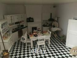 Beautiful Hand Built Dolls House Reduced In Price Fully Furnished