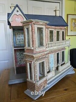 Beautiful blue roof Gottschalk dolls house