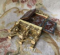 Bespaq Bluette Meloney Dollhouse Furniture Painted Shelf Cabinet Chest 6000