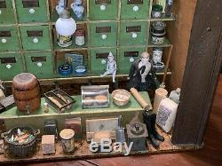 Best Antique German Miniature Country Store Diorama Doll House