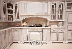 Cambridge Manor Kitchen Set, Whitewash Finish