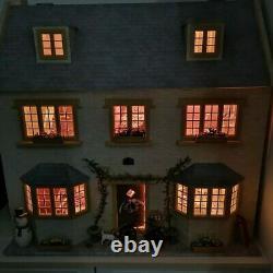 Christmas Dolls House Emporium Large Apple Tree Cottage Fully Furnished