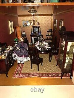 Collectors Georgian Mansion Dolls House 1/12th Fully Furnished Incredible Detail