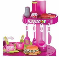 Cucina Per Bambine Giocattolo 69 Accessori Con Stoviglie Luci Suoni Altezza 80cm