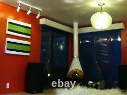 Custom Modern 70's Retro Dollhouse Miniature Hippie Living Room Box Diorama 112