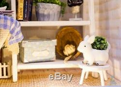 DIY Handcraft Miniature Dolls House Free Standing Frame Of Late Sunday Morning