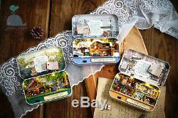 DIY Handcraft Miniature Kit Dolls House The Old Times Trilogy Tin Box Theatre