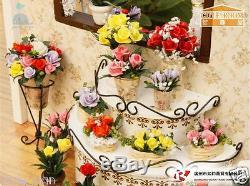 DIY Handcraft Miniature Project 360 Rotating My Rose Garden Wooden Dolls House