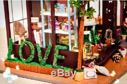 DIY Handcraft Miniature Project Dolls House Love Florist Shop on High Street